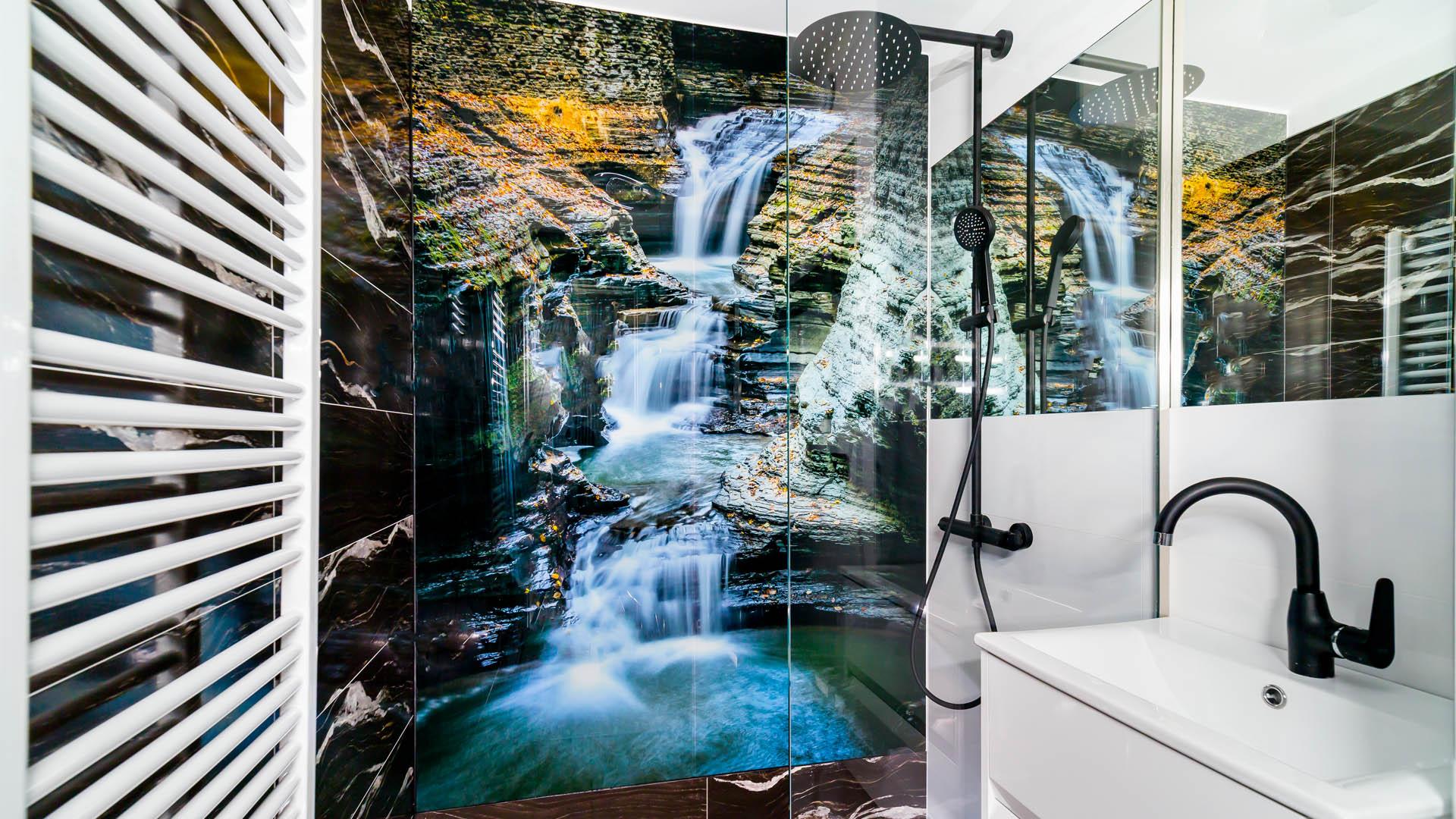 zabudowa kabina prysznic szkło